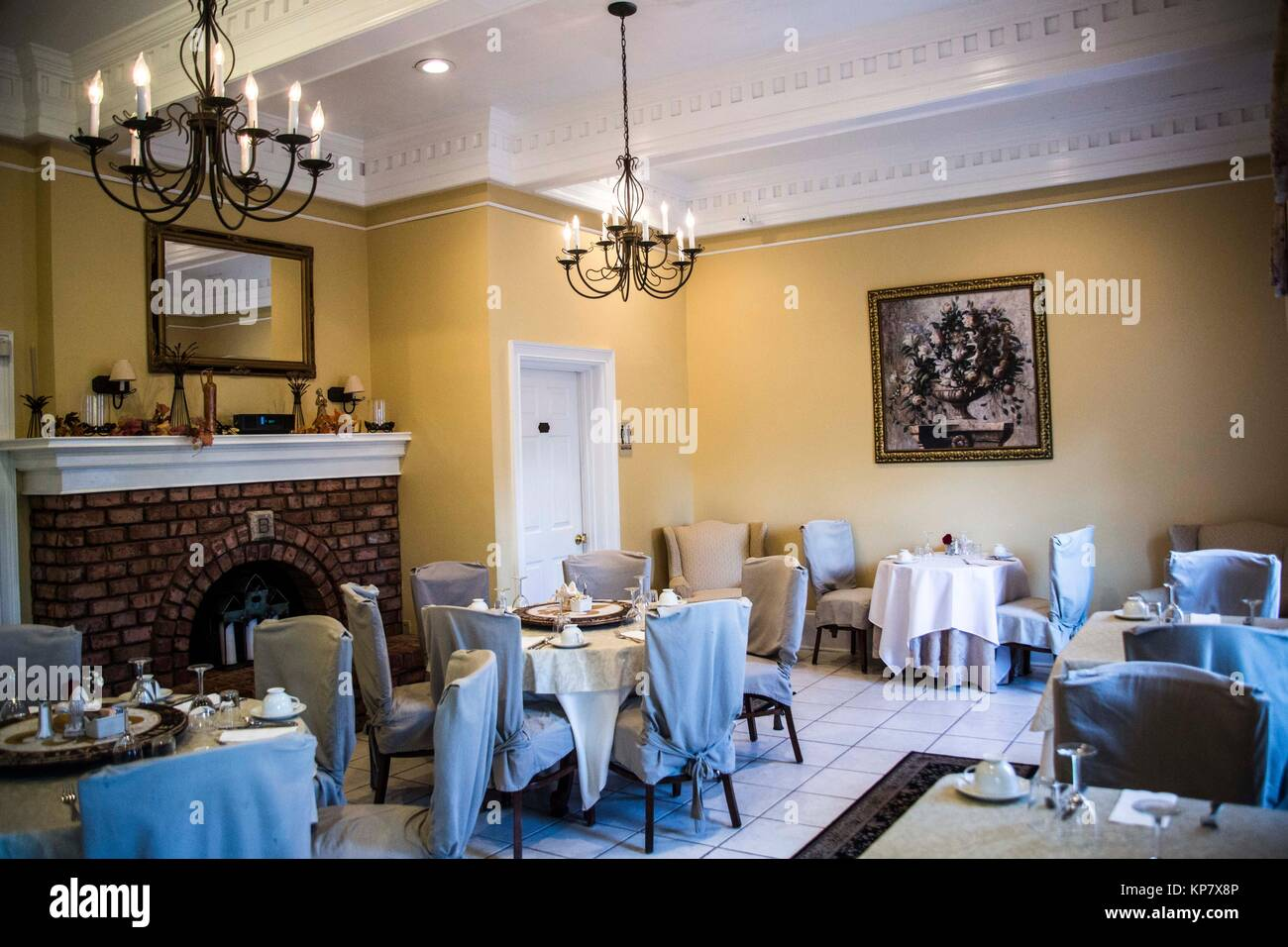Bed And Breakfast Woburn Beautiful Dining Room With Fireplace Inside A Bed And Breakfast