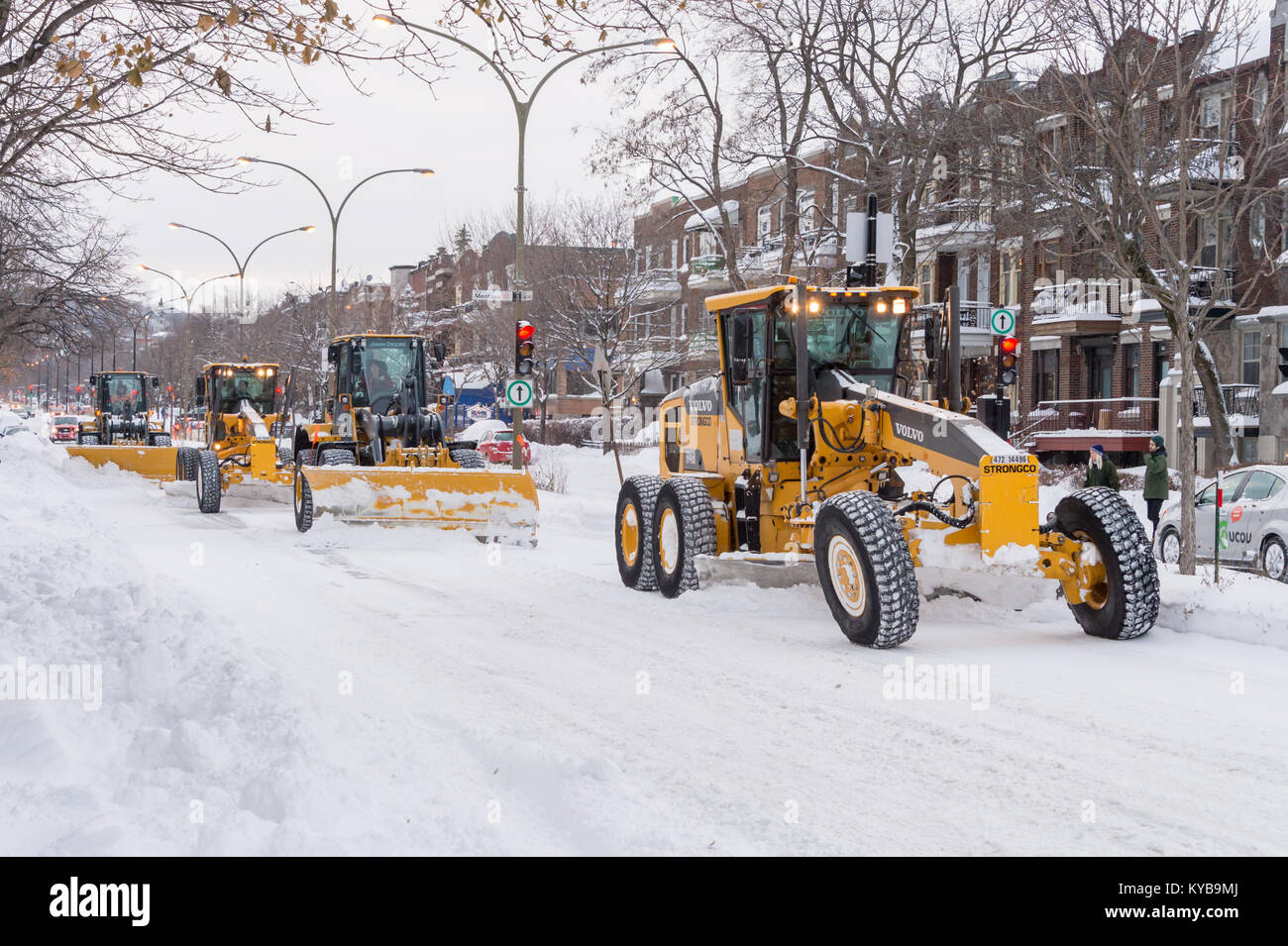Canadian Snow Plow Snowplow Clearing Snow Canada Stock Photos And Snowplow