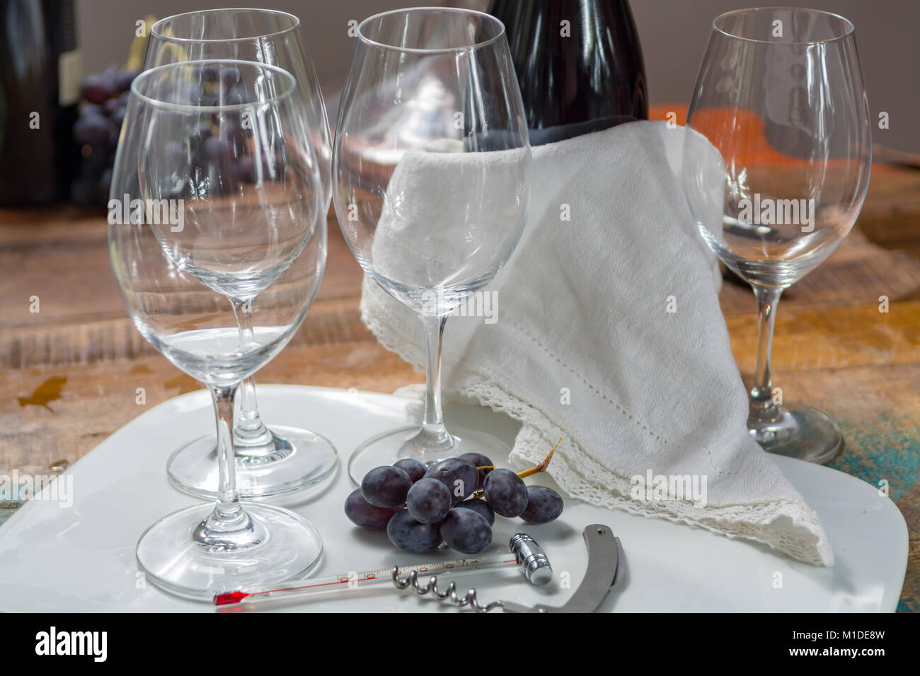 High Quality Wine Glasses Alcohol Thermometer Stock Photos And Alcohol Thermometer