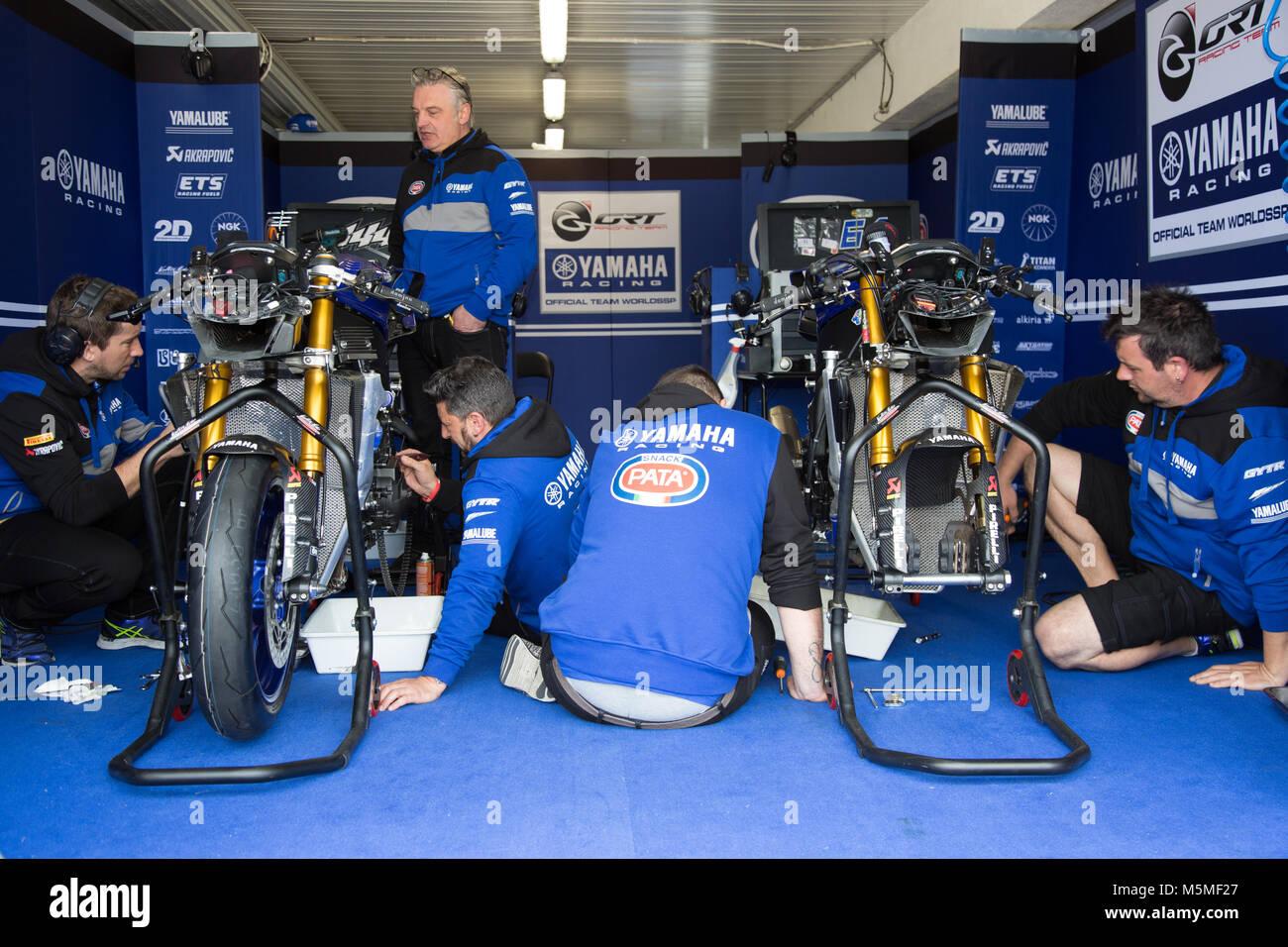 Garage Yamaha Melbourne Australia 25th February 2018 In The Yamaha Team