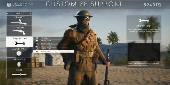 Battlefield 1 - Support Class