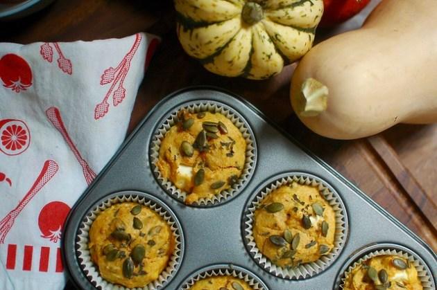 Pumpkin & Feta Muffins - The Bearded Bakery