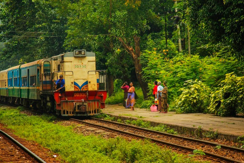 The circular train, Yangon