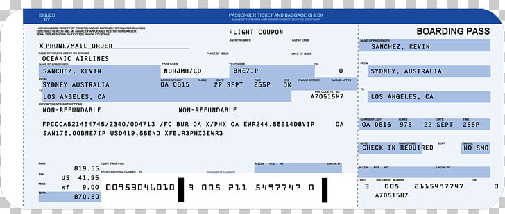 Flight Airplane Airline ticket Boarding pass Template, airplane PNG