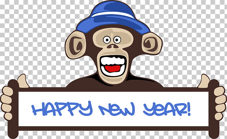 New Year\u0027s Day Chinese New Year Monkey , Happy New Year PNG clipart