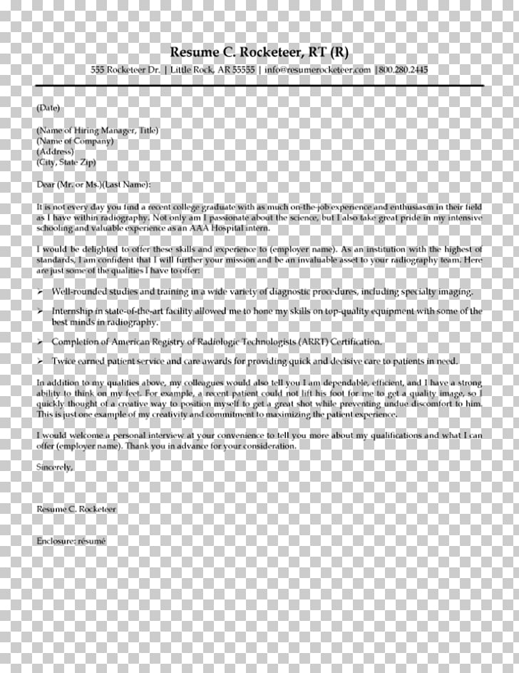 Radiographer Résumé Cover letter Radiology Template, Report Cover