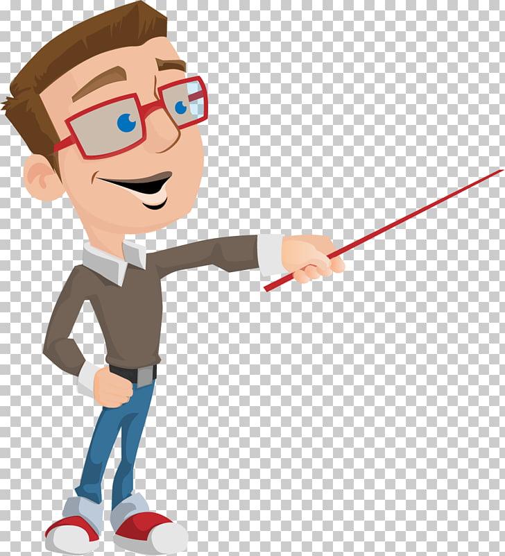 Teacher Animation School Education Cartoon, teacher, man holding a