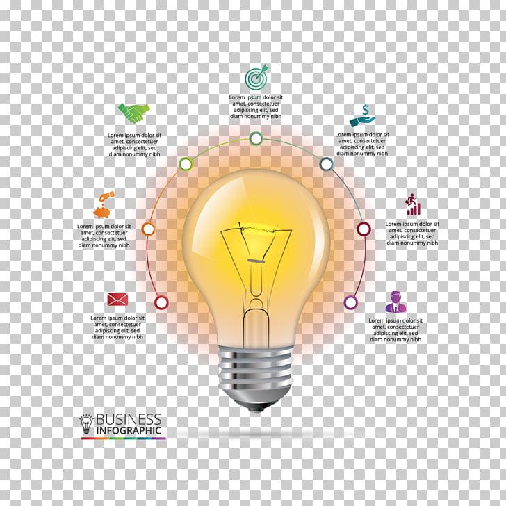 Infographic Chart Incandescent light bulb Diagram, material bulb ppt