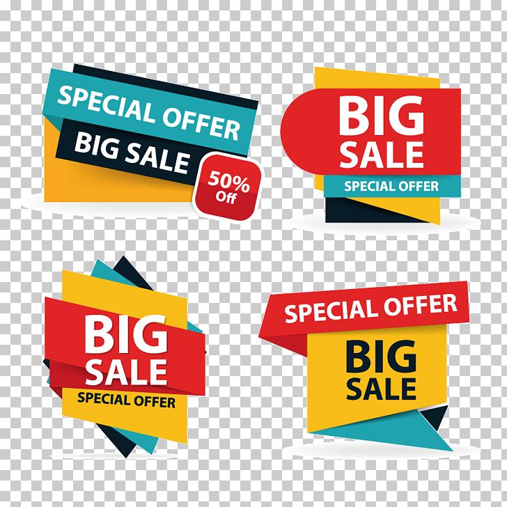 Sales Poster Logo Illustration, Colorful shopping sale flyer poster