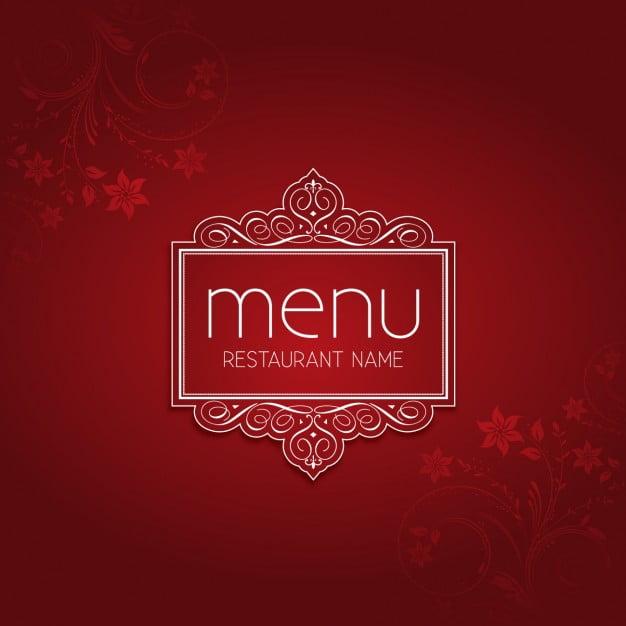 Red Elegant Restaurant Menu eps file free graphics UIHere