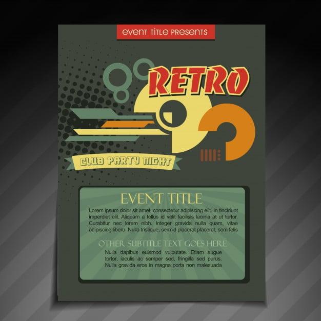 Retro brochure template eps file free graphics UIHere