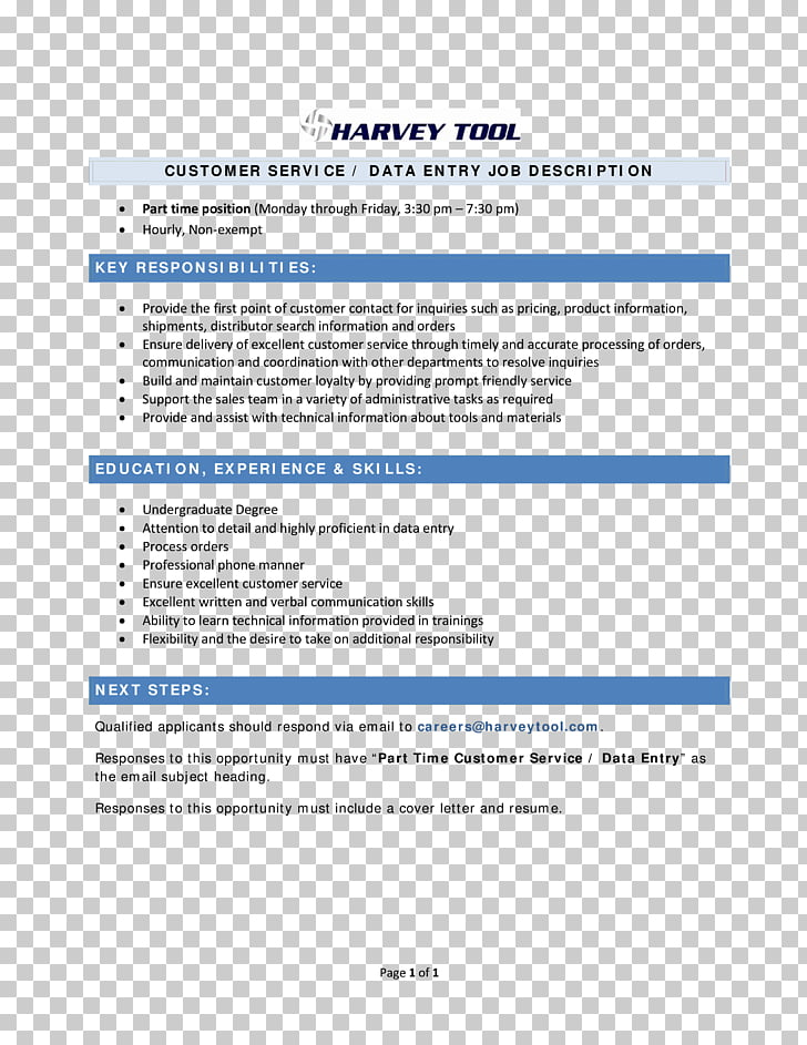 Document Résumé Data entry clerk Template Cover letter, Data Entry