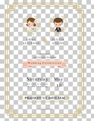 Wedding invitation Bridegroom Marriage, The bride and groom\u0027s