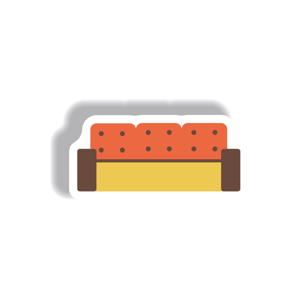 Sofa Vector Free In Paper Sticker Style Sofa Vector Ai Eps File Free Graphics