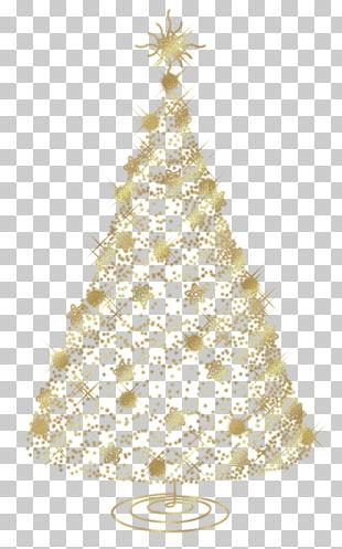 Christmas Tree Christmas Ornament Transparent Golden