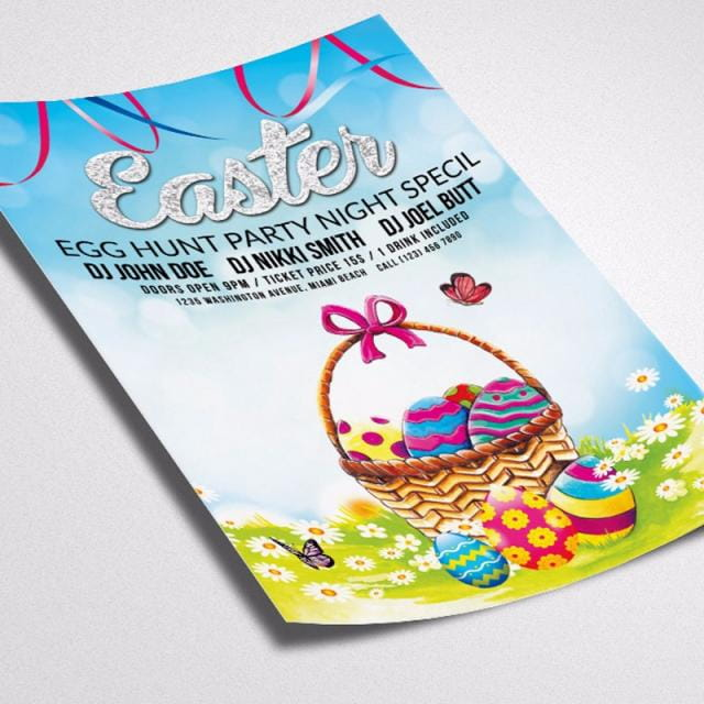 Easter Flyer Template psd file free graphics UIHere