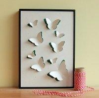 Butterfly Art Hand Cut 3D Framed Wall Art on Luulla