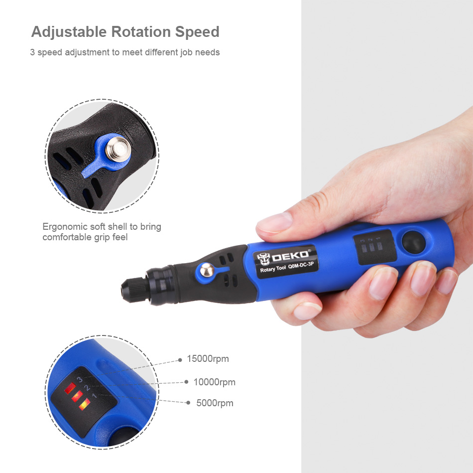 Deko Discount 24 Deko 3 6v Li On 2 3mm Collet Cordless Rotary Tool Three Speed W 24 Pcs Rotary Accessory Kit Usb Charging Cable Mini Drill