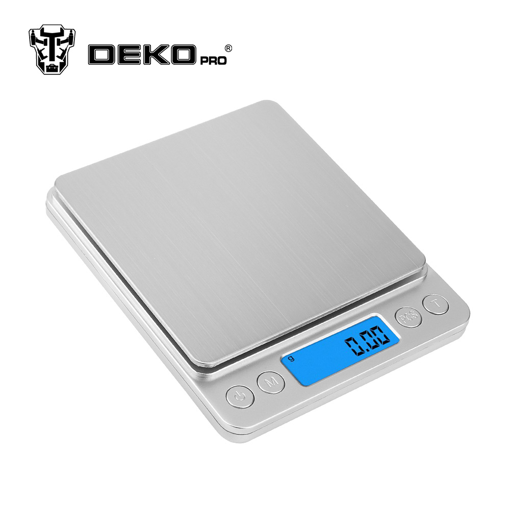 Precision Scale Dekopro Ws093 Digital Weight Scales 500g X 01g Portable Mini Electronic Precision Scales Pocket Case Kitchen With 2 Tray