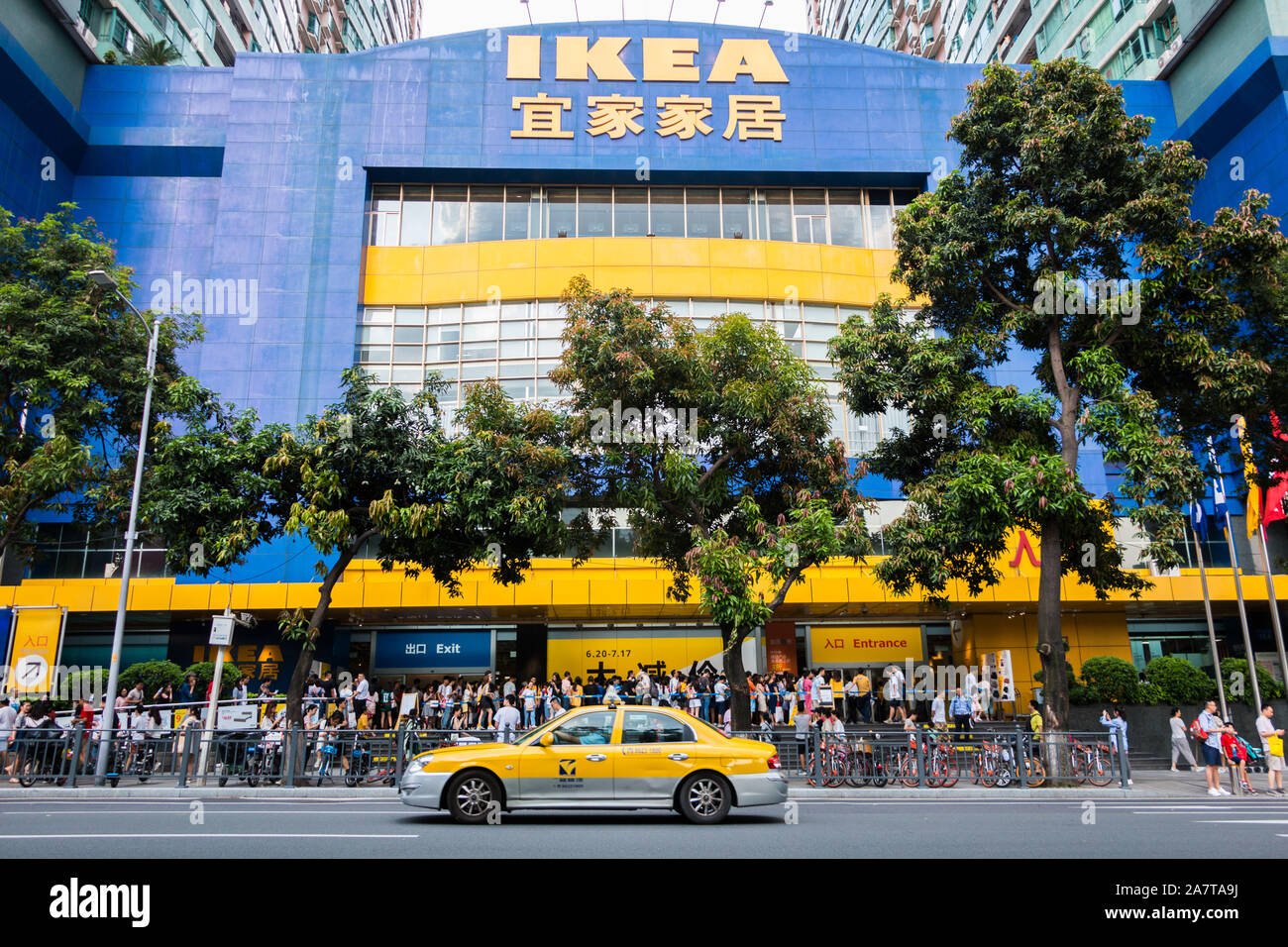 Ikea Front File--customers Queue Up In Front Of A Furnishing Store Of Ikea In Guangzhou City, South China's Guangdong Province, 6 July 2019. Global Home Furnis Stock Photo - Alamy