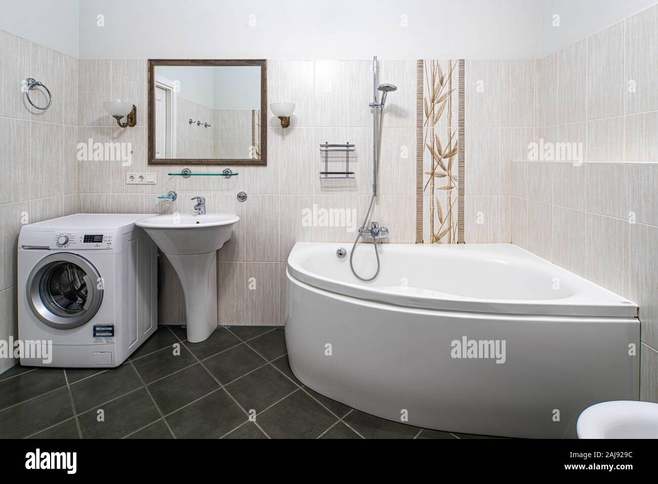 Sink Bath Washing Machine High Resolution Stock Photography And Images Alamy