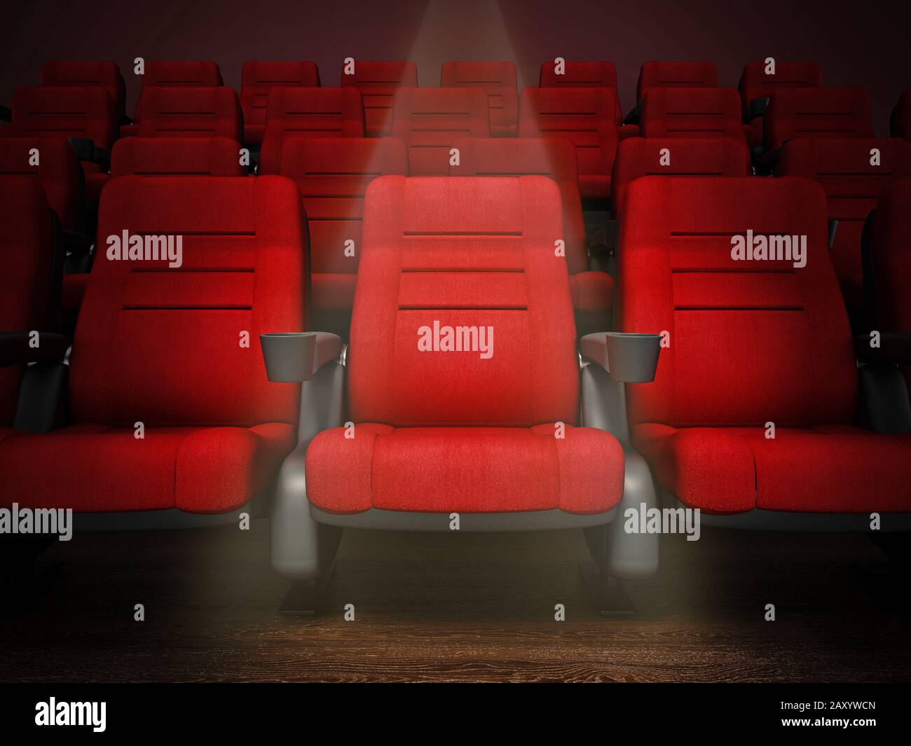 Cinema Auditorium Interior 3d Render High Resolution Stock Photography And Images Alamy