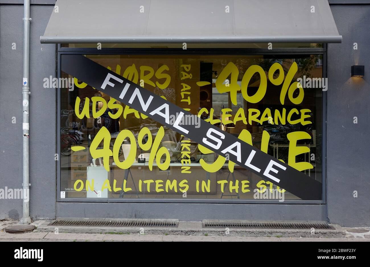 Copenhagen Furniture Store Design Objects Has A Final Clearance Sale Stock Photo Alamy