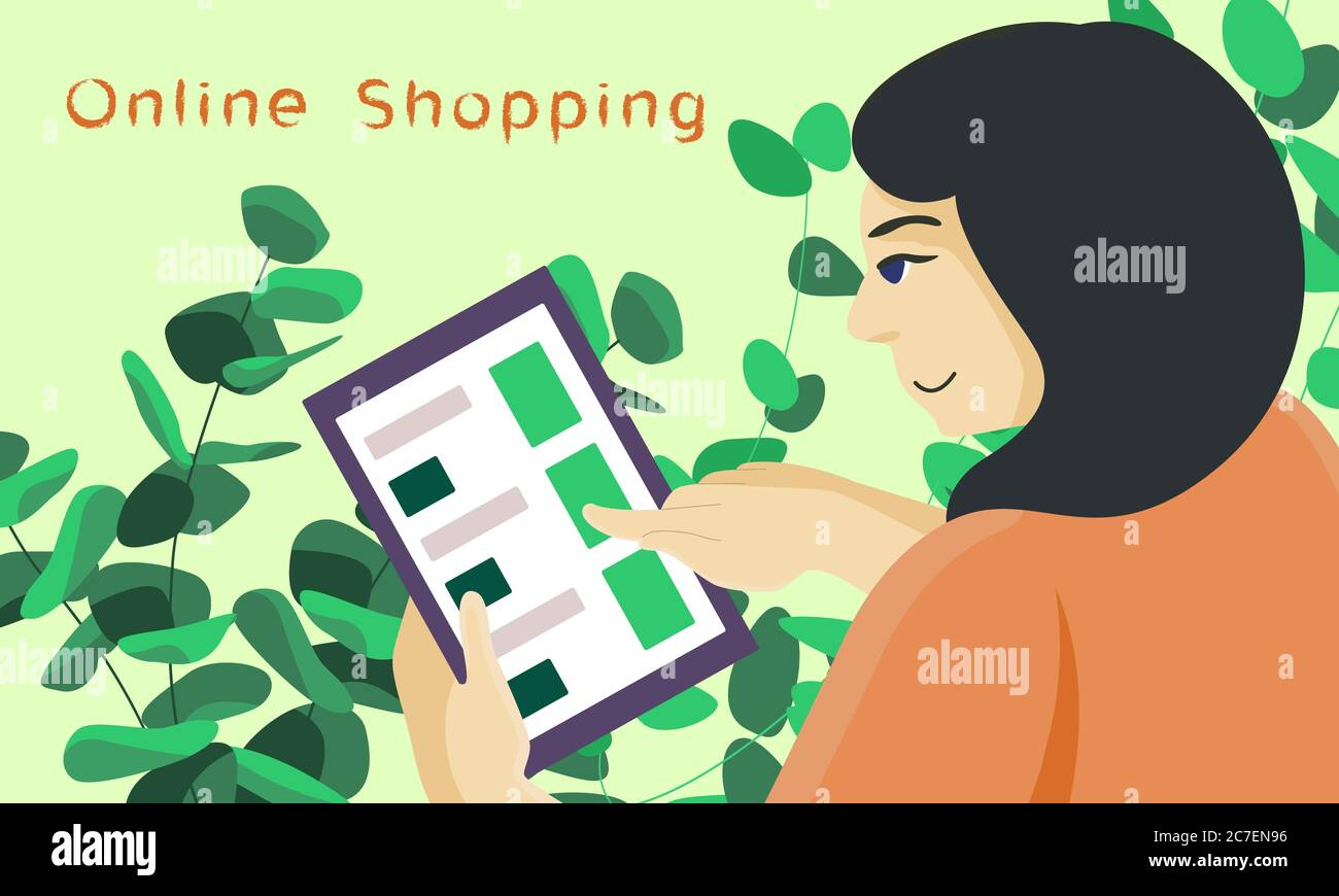 Poster Online Kaufen Online Shopping Text On Green Backdrop. Internet Order With Copy Space For Social Banner, Web Store Or Courier Service Poster. Online Shop Logo Or Inf Stock Vector Image & Art - Alamy
