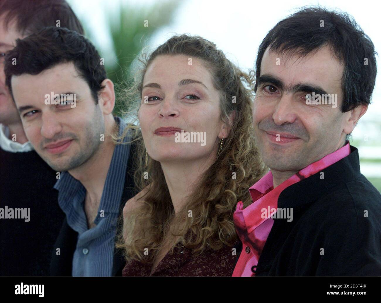 Actress Isabelle Renauld C Stands Between French Director Francois Dupeyron R And Actor Eric Caravaca L During A Photo Call For Their Film