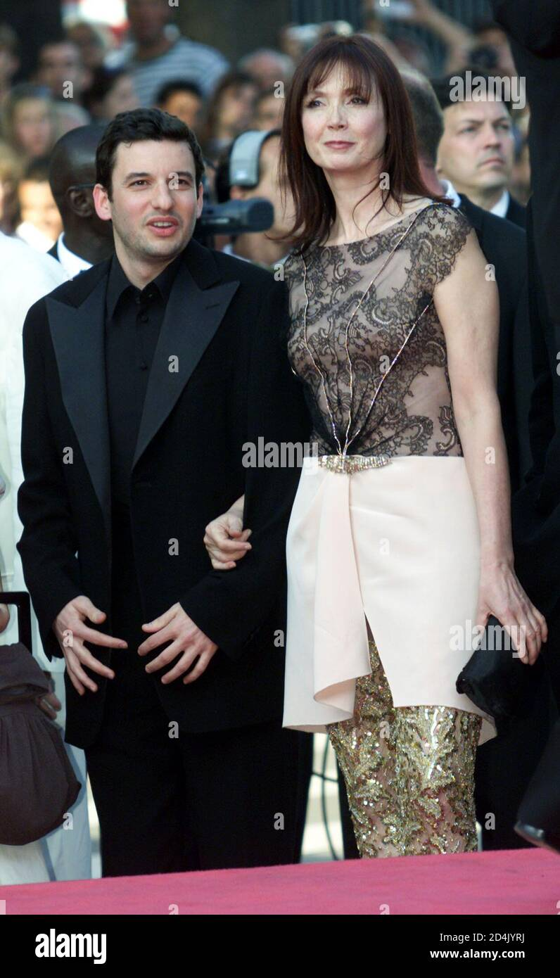 French Actress Sabine Azema R Stands With Actor Eric Caravaca L During Red Carpet Arrivals For