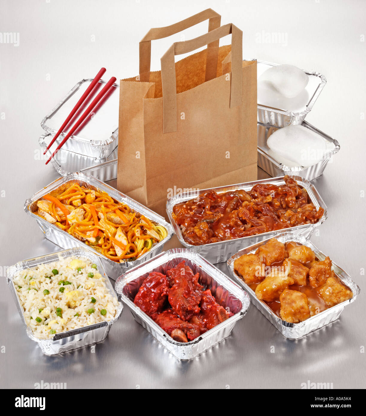 Chinese Takeaway Chinese Food Take Away Selection Stock Photo 5674483 Alamy