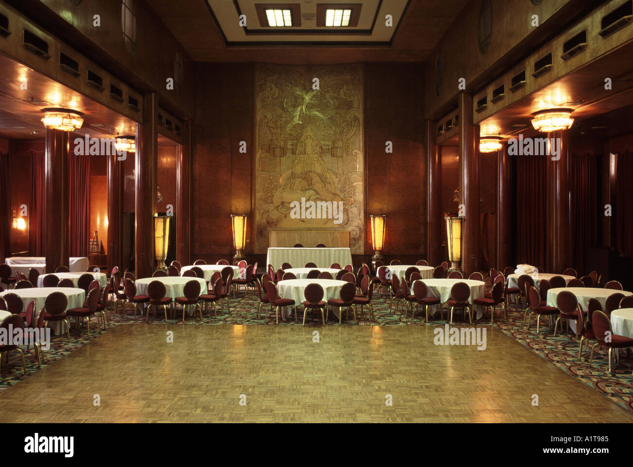 Grand Salon Grand Salon Queen Mary Long Beach Los Angeles California Usa Stock