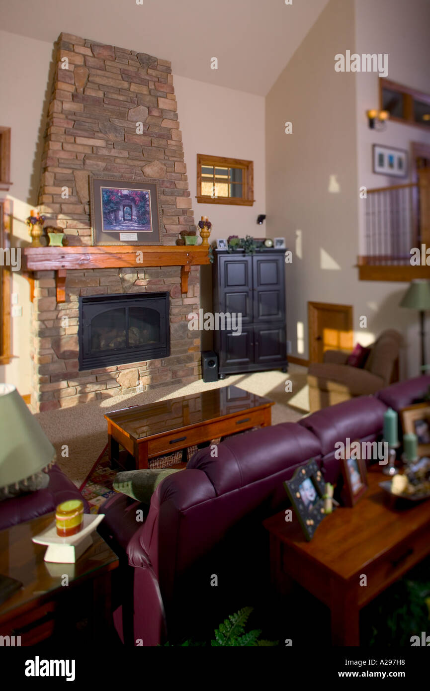 Interior living room of upper middle class home fort collins colorado