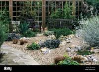 Gravel Garden Path Trellis Bench drought tolerant plants ...