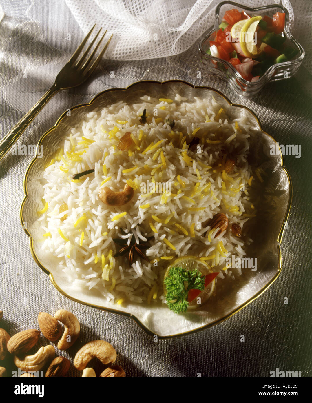 Cuisine India Vegetarian Rice Topped With Seasoned Vegetables Indian Cuisine