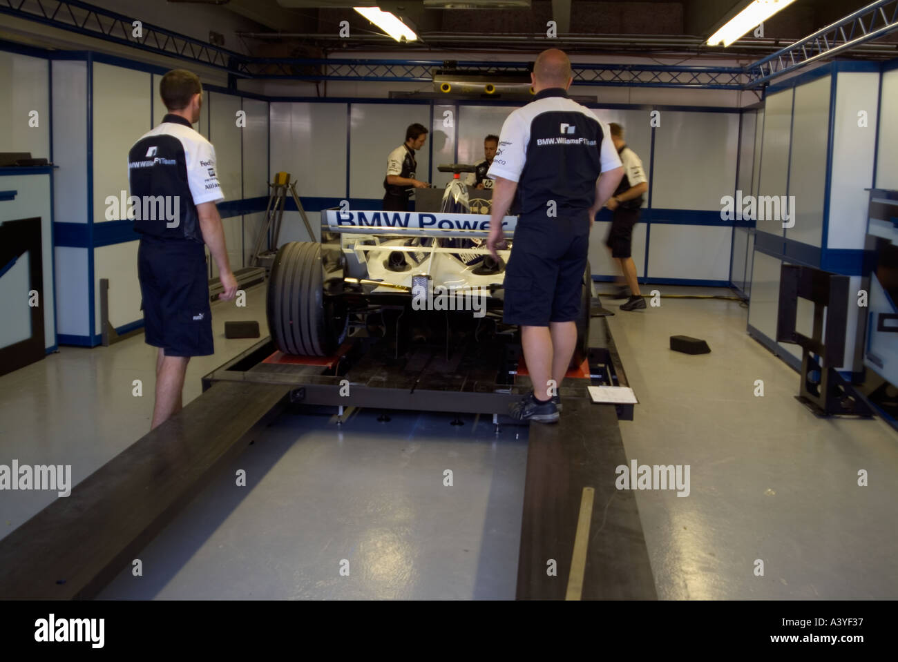 Garage Gym With Car Formula 1 Racing Car Pit Lane Garage Weighing Station Bmw Gilles