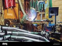 automobile manufacturing welding [exhaust pipe] Stock
