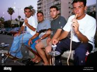 People smoking water pipes Beirut Lebanon Stock Photo ...