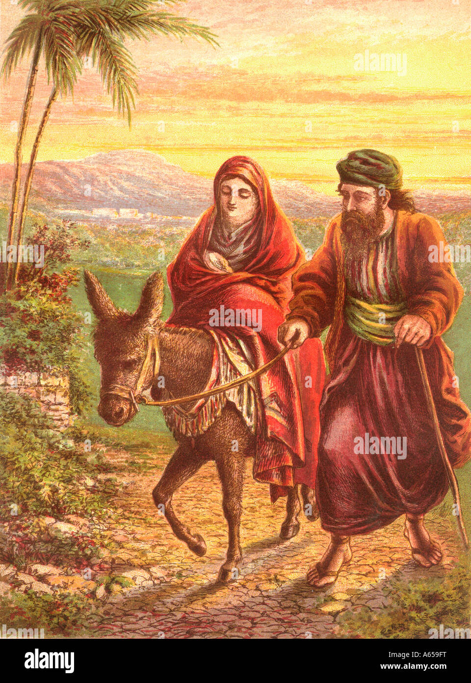 Joseph Und Joseph Mary And Joseph S Flight Into Egypt Stock Photo 11465291 Alamy