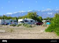 Families camping at Furnace Creek in Death Valley National ...