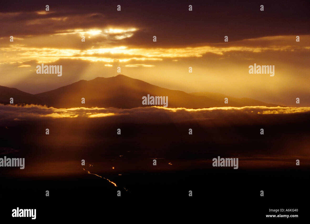 Square Habitat 35 The Sun Sets Over Ngorongoro Crater The Worlds Largest Intact