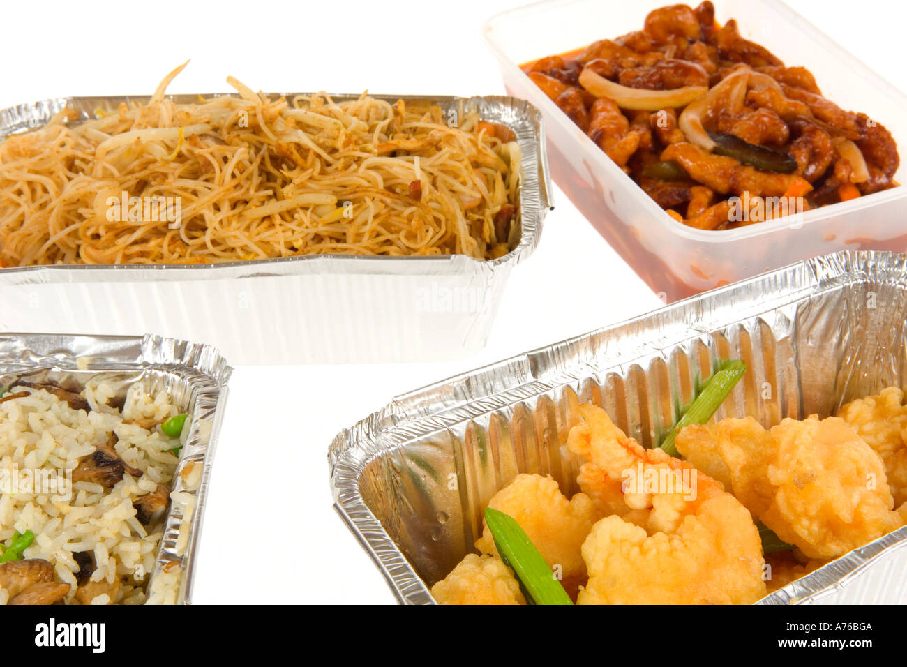 Chinese Takeaway Chinese Takeaway Containers Of Freshly Prepared Food On A