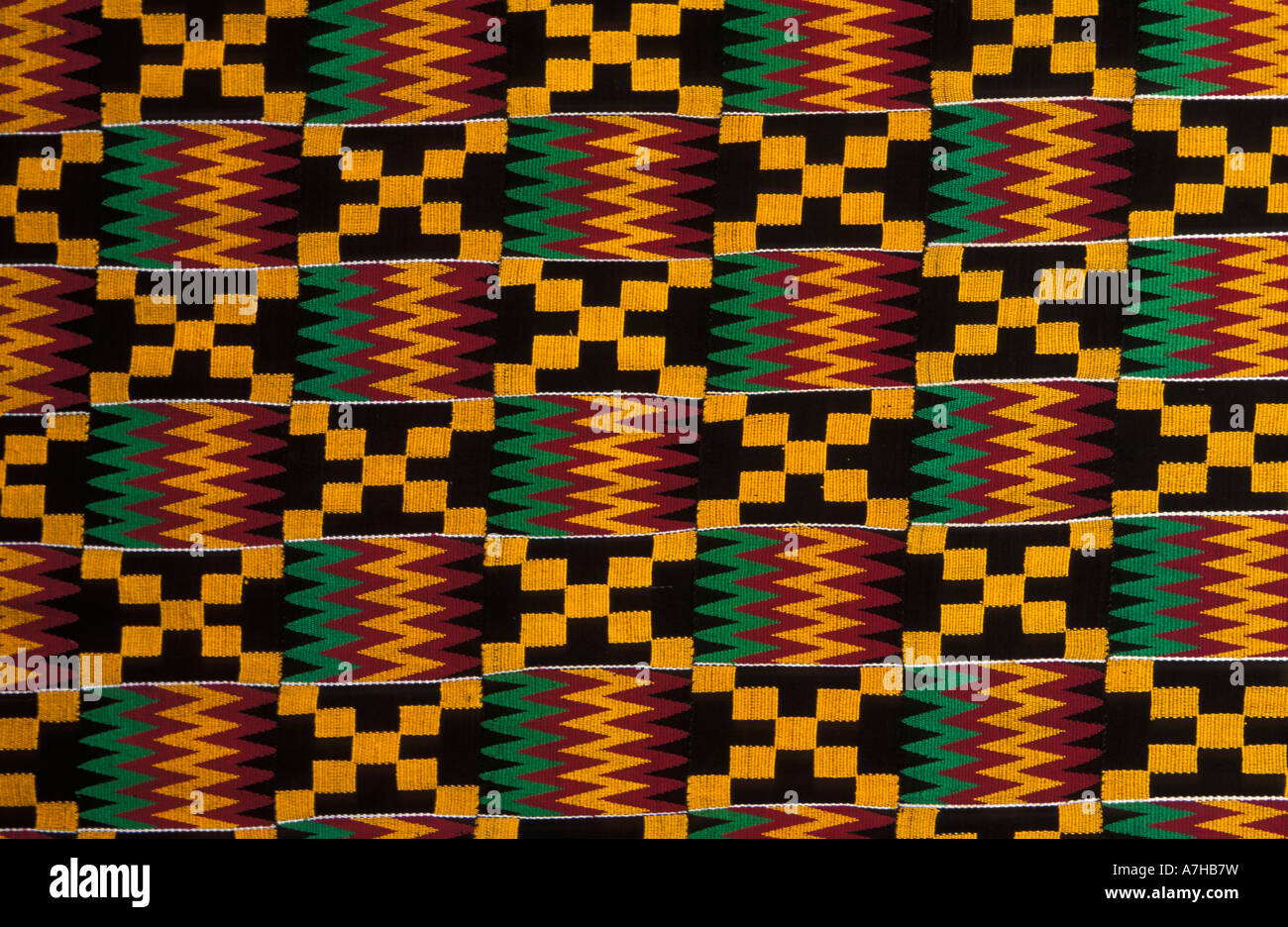 Kente Cloth Ghana Stock Photos & Kente Cloth Ghana Stock