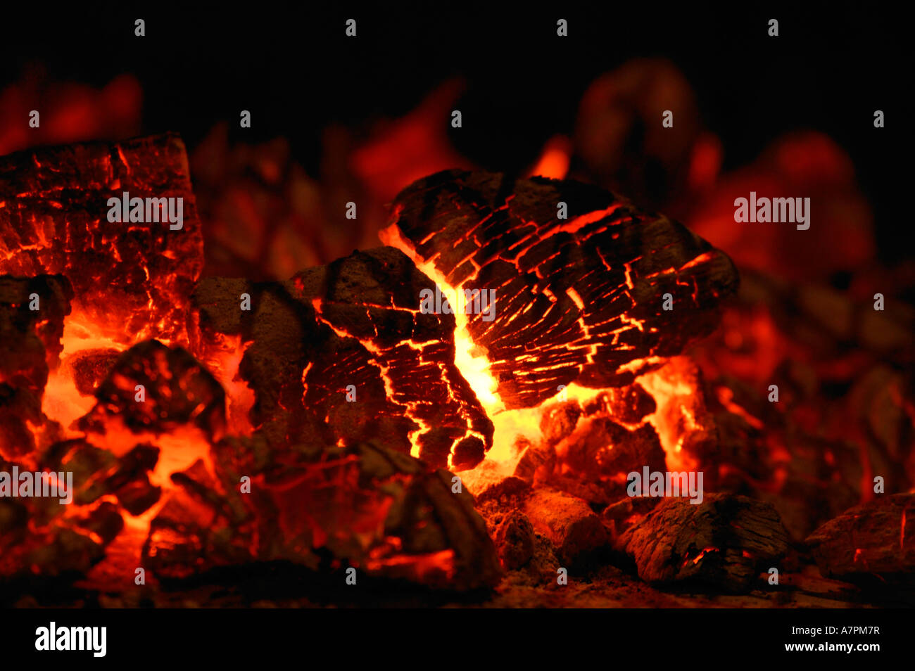 Glowing Embers Stock Photos Glowing Embers Stock Images