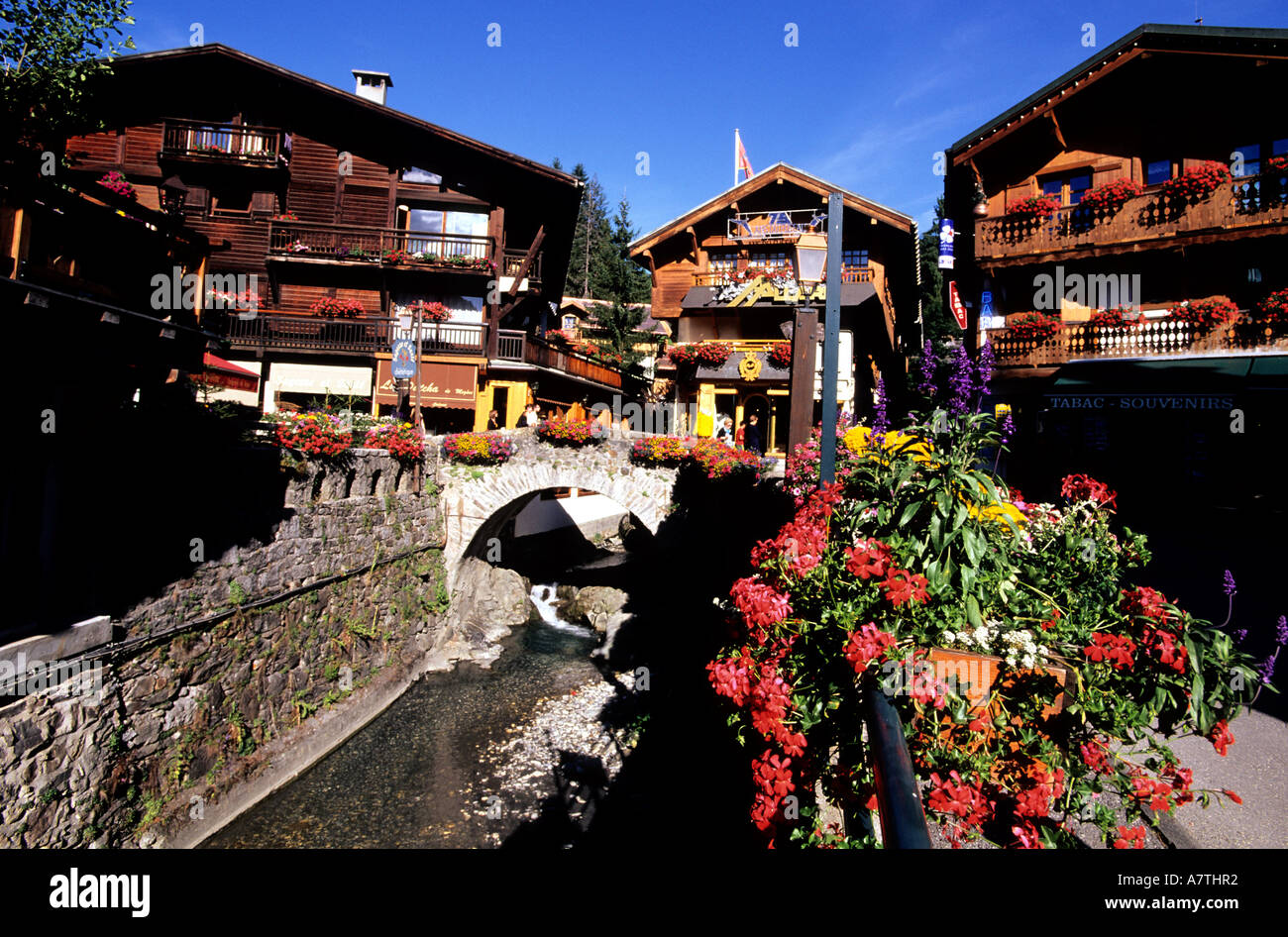 Office Tourisme Megeve France Haute Savoie Megeve Summer Stock Photo 6805809 Alamy