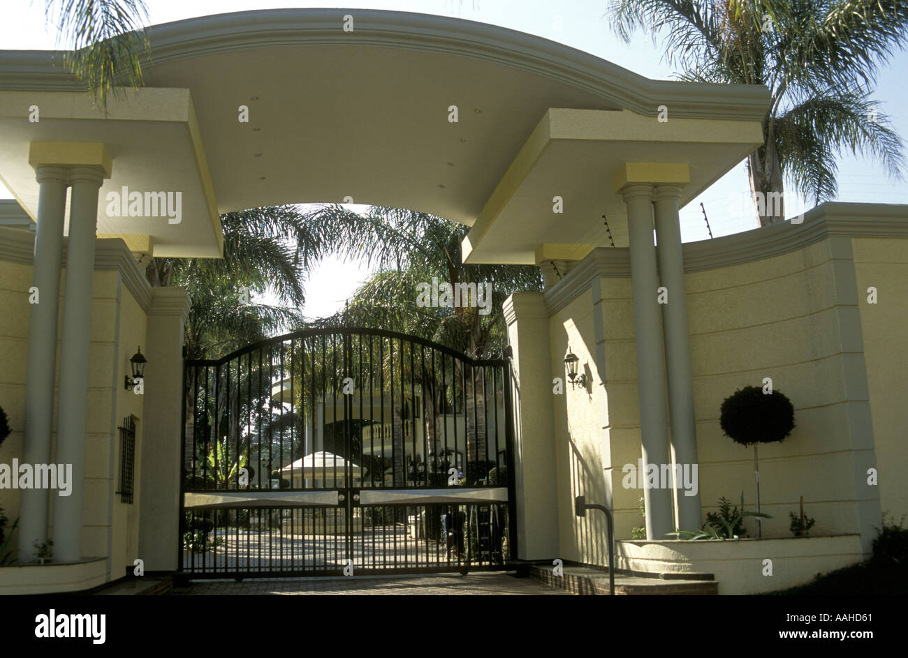 Luxury Home Entrance Imposing Wrought Iron Entrance Gates To Luxury Home In