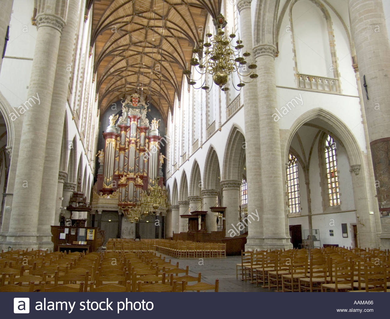 Haarlem Interieur Interior Of Saint Bavo Church In Haarlem Stock Photo
