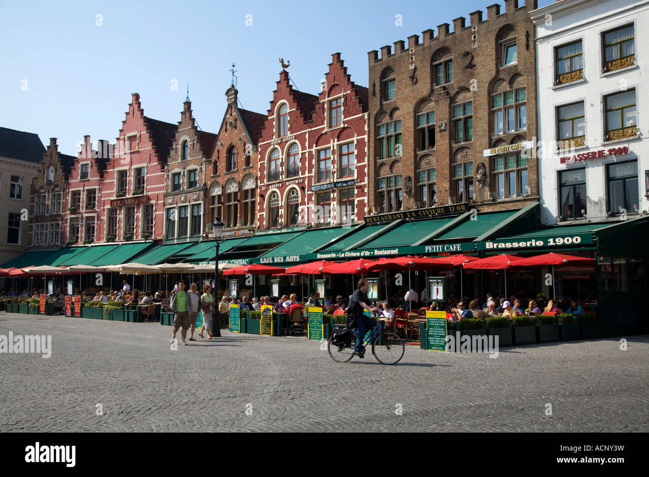 Resturant Stores Historical Marketplace With Outdoor Restaurant And Stores In The
