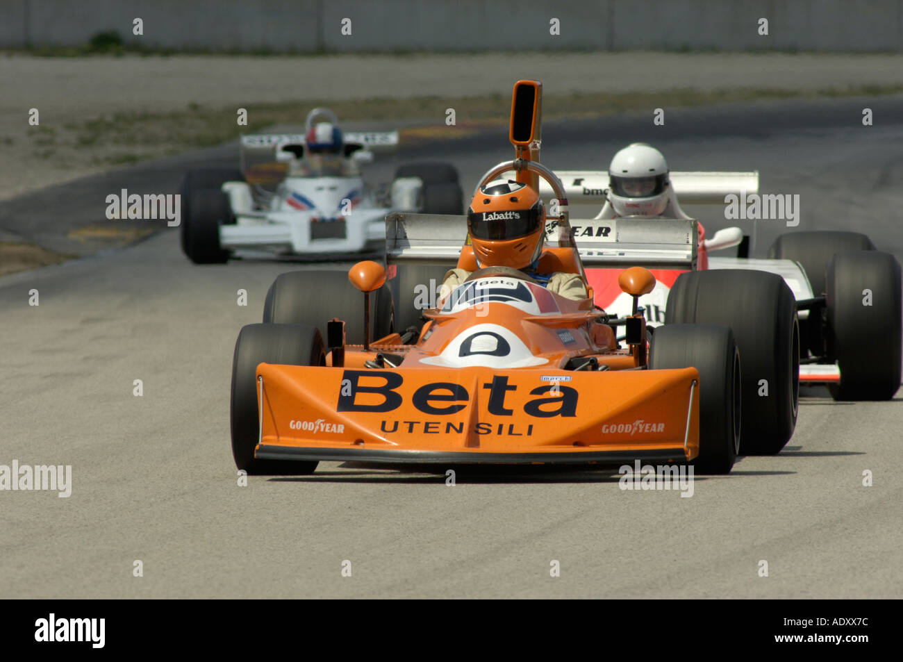 Garage Renault Blain Formula 1 Orange Car Racing Stock Photos Formula 1 Orange Car