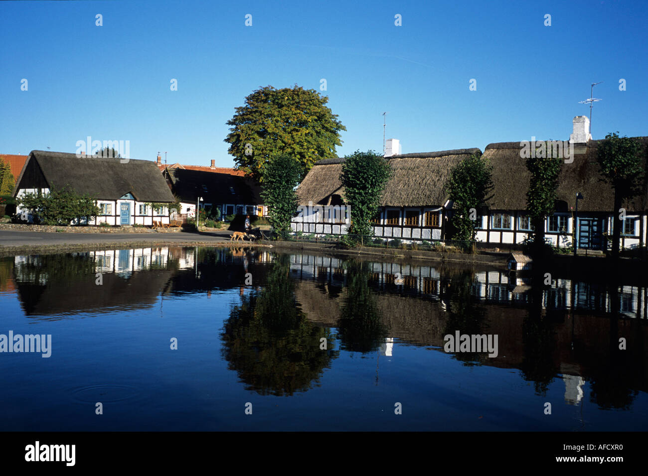 Nordby Bank Timberframe Houses On Samso Nordby Samso Denmark Stock Photo